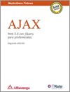 Book cover of AJAX, Web 2.0 con jQuery para Profesionales. 2nd edition (spanish)